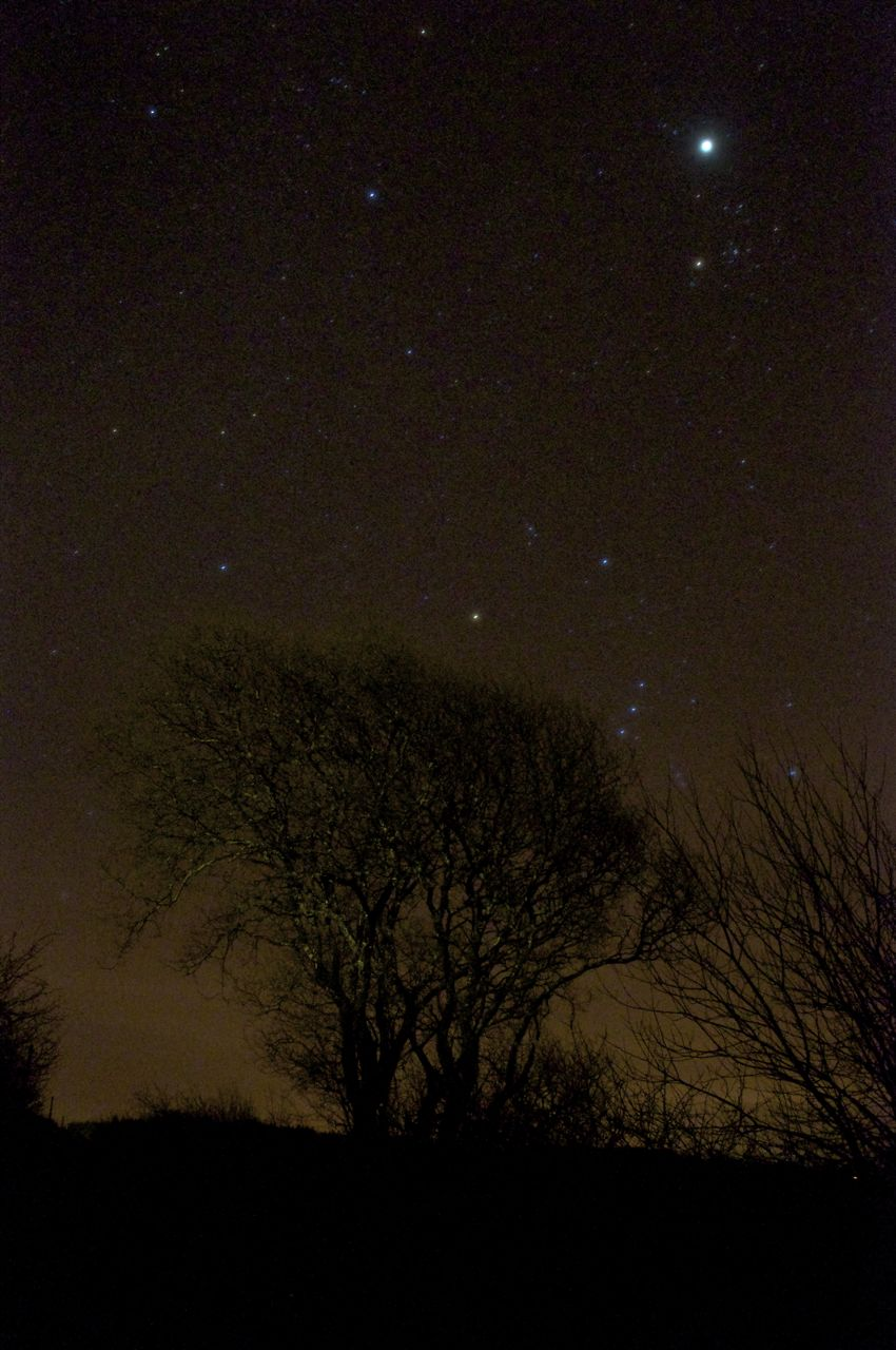5th January 2013 -8.15pm starry night, the cloud clears after cloudy days and a rainy day...