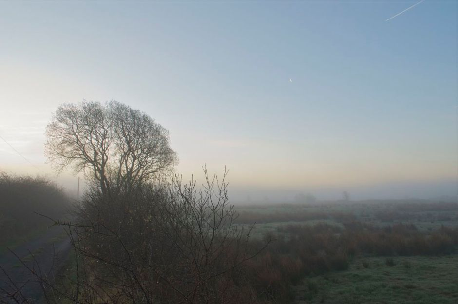 4th May 2013, 6.00am - foggy start to a brigh day